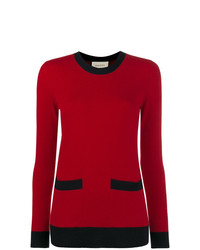 Pull à col rond rouge Gucci