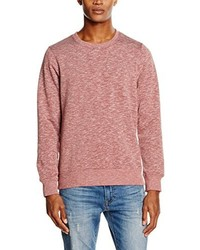 Pull à col rond rouge Jack & Jones