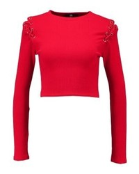 Pull à col rond rouge Missguided
