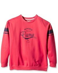Pull à col rond rouge Puma