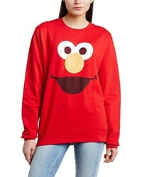 Pull à col rond rouge Sesame Street