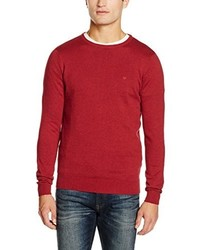 Pull à col rond rouge Tom Tailor