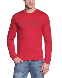 Pull à col rond rouge Wrangler