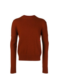 Pull à col rond tabac Calvin Klein 205W39nyc