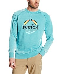 Pull à col rond turquoise Burton