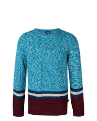 Pull à col rond turquoise Diesel
