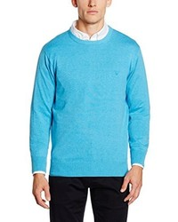 Pull à col rond turquoise Gant