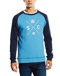 Pull à col rond turquoise Wesc