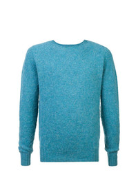 Pull à col rond turquoise YMC