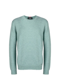 Pull à col rond vert menthe DSQUARED2