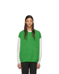 Pull à col rond vert Givenchy