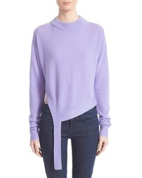 Pull à col rond violet clair