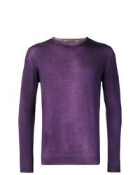 Pull à col rond violet Altea