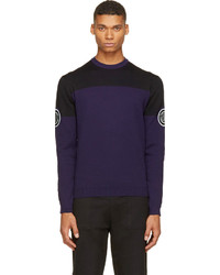 Pull à col rond violet Kenzo