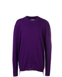 Pull à col rond violet Laneus