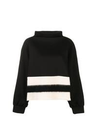 Pull à col roulé à rayures horizontales noir et blanc Pierantoniogaspari