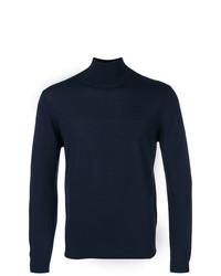 Pull à col roulé bleu marine Fashion Clinic Timeless