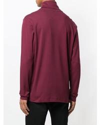 Pull à col roulé bordeaux Calvin Klein Jeans