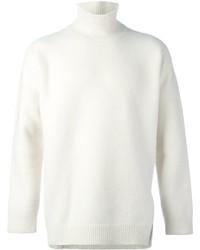 Pull à col roulé en laine blanc Ports 1961