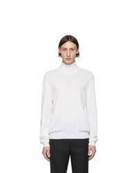 Pull à col roulé en laine en tricot blanc Maison Margiela