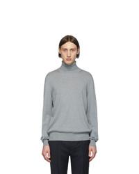 Pull à col roulé en laine en tricot gris Maison Margiela