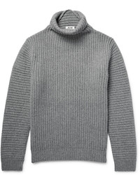 Pull à col roulé en laine gris Acne Studios