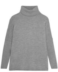 Pull à col roulé en laine gris Allude