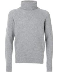 Pull à col roulé en laine gris Barena