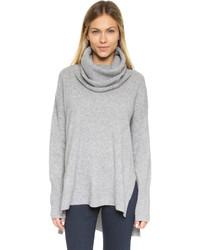 Pull à col roulé en laine gris Diane von Furstenberg