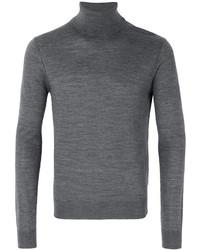 Pull à col roulé en laine gris DSQUARED2