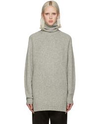 Pull à col roulé en laine gris Isabel Marant