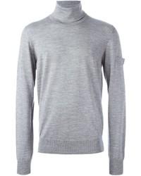 Pull à col roulé en laine gris Oamc