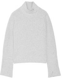 Pull à col roulé en laine gris Proenza Schouler