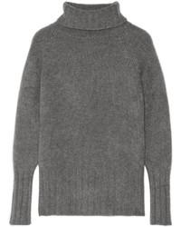 Pull à col roulé en laine gris The Elder Statesman