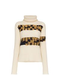 Pull à col roulé en tricot beige Calvin Klein 205W39nyc