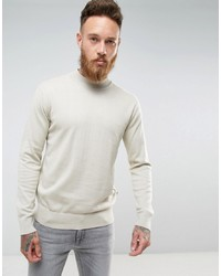 Pull à col roulé en tricot beige French Connection