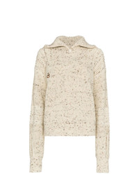 Pull à col roulé en tricot beige Isabel Marant Etoile