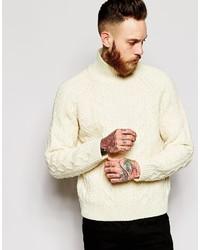Pull à col roulé en tricot beige Levi's