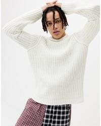Pull à col roulé en tricot blanc ASOS DESIGN