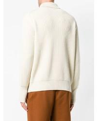 Pull à col roulé en tricot blanc Batoner