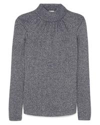 Pull à col roulé en tricot bleu marine Golden Goose Deluxe Brand