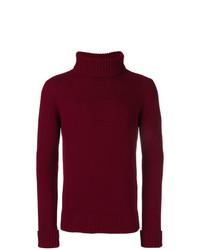 Pull à col roulé en tricot bordeaux Fortela