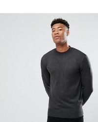 Pull à col roulé en tricot gris foncé French Connection