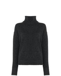 Pull à col roulé en tricot gris foncé Golden Goose Deluxe Brand