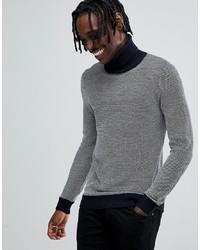 Pull à col roulé en tricot gris Antony Morato