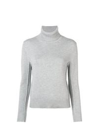 Pull à col roulé en tricot gris Chloé