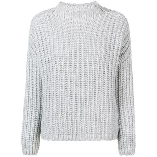 Pull à col roulé en tricot gris Incentive! Cashmere