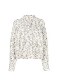 Pull à col roulé en tricot gris Isabel Marant