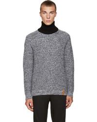 Pull à col roulé en tricot gris Kenzo