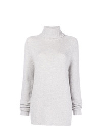Pull à col roulé en tricot gris Ma Ry Ya